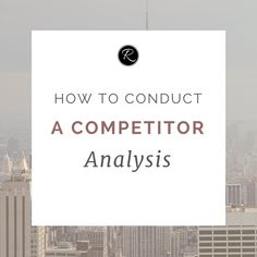 One of the most important parts of your market research is your competitor  analysis   It's nothing to be ashamed of. Every successful business in the history of  the world has had to conduct some sort of competitor analysis or research  in order to find out how to best position their brand.  Below are some reasons why you need to undertake research about your  competitors:      * To better understand the market you're operating in     * To find out what is successful & unsuccessful…