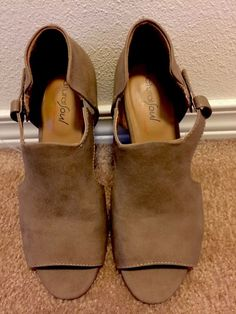 22f994f3e73c Natural Soul Daya All-Thru Comfort Taupe Bootie Open Toe Sandals Size 6M   fashion