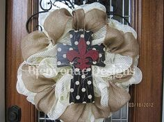 mesh wreath by cheryl