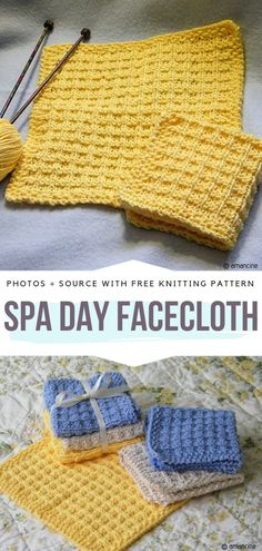 Knitted Dishcloth Ideas Free Patterns Spa Day Facecloth Free Knitting Pattern History of Knitting String rotating, weaving and sewing jobs such as for instanc. Knitted Dishcloth Patterns Free, Knitted Washcloths, Knitting Patterns Free, Free Knitting, Free Crochet, Free Pattern, Crochet Patterns, Crochet Afghans, Crochet Blankets