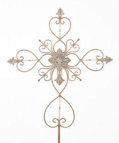 Another great find on #zulily! Ornate Hearts Cross Garden Stake #zulilyfinds