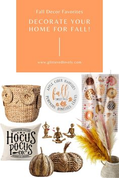Fall Decor Favorites • Glittered Lovely