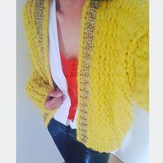 KirobyKim Kiro By Kim, Knit Art, Yellow Cardigan, Mohair Sweater, Vest, Knitting, Outfits, Inspiration, Crocheting