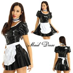 French Maid Fancy Dress, Maid Cosplay, Wish Shopping, Cosplay Costumes, Skater Skirt, Latex, Apron, Skirts, Outfits