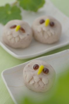 I was browsing for recipes online when I stumbled across this link to a Japanese website that sha. Japanese Treats, Japanese Food Art, Japanese Desserts, Owl Desserts, Asian Desserts, Anime Bento, Japanese Tea Ceremony, Cooking With Kids, Cute Food