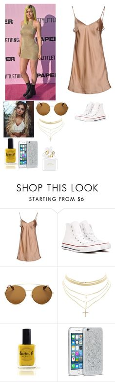 """""""Coachella VIP party with Kylie"""" by joelene-garcia ❤ liked on Polyvore featuring Cesare Paciotti, Converse, Givenchy, Charlotte Russe, Lauren B. Beauty and Marc Jacobs"""