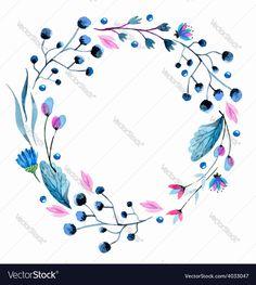Vector image of Watercolor flower wreath Vector Image, includes background, wallpaper, design, flower & petal. Illustrator (.ai), EPS, PDF and JPG image formats.