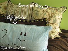 Red Door Home: How to Sew and Attach Welting when making pillows