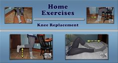This home exercise program demonstrates 18 exercises that can increase knee motion and strength. The program is useful for patients who have knee arthritis and also for patients recovering from knee replacement surgery.