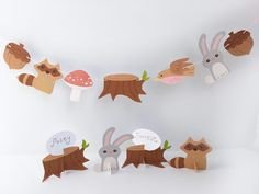 Fun with Paper Cut Out Shapes, Forest Friends, Finger Puppets, Name Cards, Paper Decorations, Party Printables, Seasonal Decor, More Fun, Card Stock