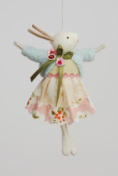 Sky Blue Easter Rabbit – Girl - Easter Rabbit – Girl – Halinka's Fairies - Christmas Fairy, Felt Christmas, Christmas Crafts, Felt Fairy, Doll Crafts, Fairy Crafts, Little Doll, Fairy Dolls, Soft Dolls
