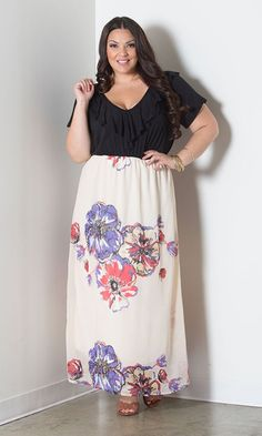 Chrissy Maxi Dress at Curvalicious Clothes www.curvaliciousclothes.com TAKE 15% OFF Use code: TAKE15 at checkout