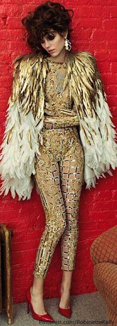 "Vogue Paris - ""Couture"" - Zuhair Murad Haute Couture S / S 2013 News Fashion, Fashion Art, Editorial Fashion, Trendy Fashion, Fashion Show, Fashion Design, Couture Fashion, 80s Rock Fashion, Studio 54 Fashion"