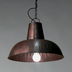 "Fabriklampe / Hängelampe ""Cosy"" kupfer - Industrial style factory pendant light cozy copper"