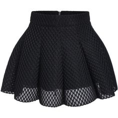 Black Mesh Flare Mini Skirt (58 ILS) ❤ liked on Polyvore featuring skirts, mini skirts, bottoms, pants, saia, black, flared mini skirt, flared hem skirt, flared skirt and short mini skirts