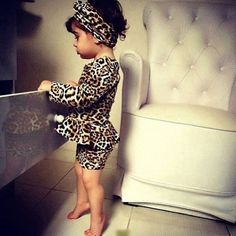leopard peplum ♥ I can't even take the cuteness. I Need this for Cam!!!!!