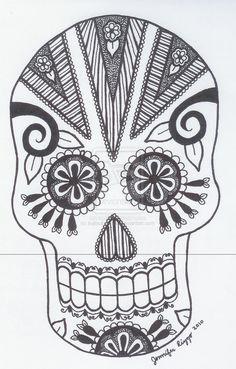 Sugar Skull 6 by jiujitsubuddah on deviantART