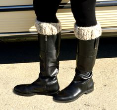 So easy! Free Pattern for Boot Cuffs~