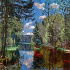 Stanislav Zhukovsky Lac de Forêt, 1934