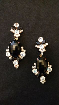 Absolutely stunning set is clip on earrings. To set off that Little Black Dress.  NOT SIGNED   For centuries, the foundries of old Czechoslovakia have