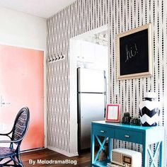 "Beautiful geometric wall pattern ""Beads"" will make a stunning accent wall in any contemporary room! Stencil designs for walls, curtains and rugs. Wall patterns for trendy home decor Wall Stencil Designs, Large Wall Stencil, Wall Stencil Patterns, Frame Wall Collage, Frames On Wall, Wallpaper Stencil, Wall Wallpaper, Office Wall Decor, Room Wall Decor"