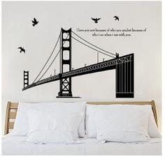 Sanfrancisco Golden Gate Bridge Living Room Wall Decal