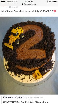 2nd birthday construction cake, could change for any age