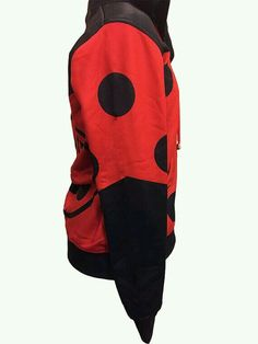 5016f7d6a118 Custom hoodie inspired by Ladybug from Miraculous Ladybug. Made of  polyester. The modeled hoodie is a Womens Size Medium.    This jacket can  take up to 4 ...