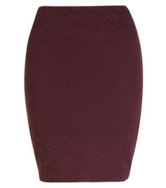 Burgundy Floral Jacquard Tube Mini Skirt