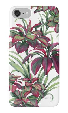 Tropical Leaves Sing IPhone Case by PolkaDotStudio, new #tropical #Hawaiian #garden original #watercolor #art on #phone cases. Great opportunity to accessorize and protect your phone is a beautiful way. iPhone wallets and other tech accessories are available, as well as home and fashion products. Perfect #Mother's Day gift, graduation or a reason to treat yourself to something important.