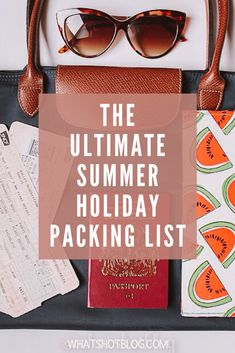 This is the ultimate summer holiday packing list to help you be as best prepared for your holiday as possible. Never go abroad without these top travel essentials! Holiday Packing Lists, Packing List For Vacation, Enjoy Your Vacation, Suitcase Packing, Travel Packing, Packing Tips, Travel Tips, Usa Travel, Travel Destinations