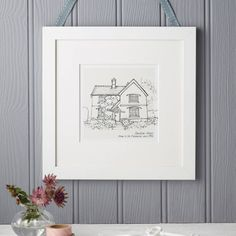 House Portrait from NotOnHighStreet in England. Prices start at $60 plus $30 in shipping.