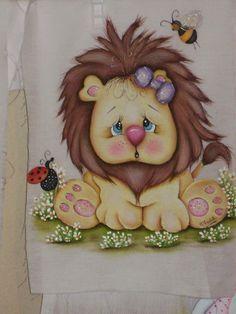 Pintura em tecido | para bebês | leãozinho