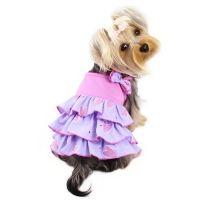 shimmery hearts ruffle dress with bow