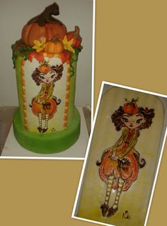 Learned a lot from Heike -kreatives mit Herz. Only a dummy, but wonderfull autumn cake decor