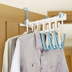 Lakeland 6 Shirt Foldable Hanger in clothes hangers at Lakeland Shower Rail, Laundry Supplies, Downstairs Toilet, Iron Board, Walk In Wardrobe, Wash Bags, Drawers, Household, Clothes Hangers