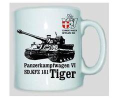 Tasse Tiger 506 Panzerkampfwagen VI SD.KFZ 181 / mehr Infos auf: www.Guntia-Militaria-Shop.de