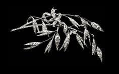 Brooch of ornamental grasses, platinum and diamonds, 1885 Chaumet.