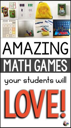 Math games every student will love! Whats your favorite math game to play in class?