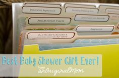 Shower Gift - a folder to organize all the important papers that come with having a baby!  | unOriginalmom.com