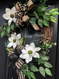 A personal favorite from my Etsy shop https://www.etsy.com/listing/538816559/summer-front-door-wreath-magnolia-wreath