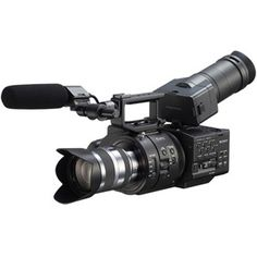 The Sony NEX-FS700U Super 35 Camcorder with 18 - 200 mm Lens is a fully professional large-sensor video camera. Hot on the heels of the FS100, this compact, highly modular camera uses a very similar-sized Super 35 CMOS sensor as the FS100. But as a marked improvement over that earlier model's sensor, the FS700 features a native 4K resolution sensor.