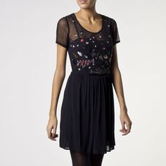 Robe, détail sequins IKKS (QE30364) | Vêtement ICode Hiver 14