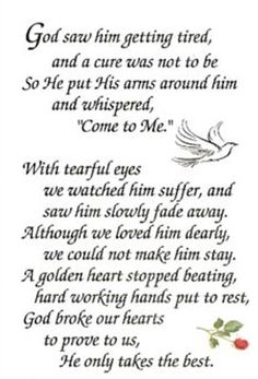miss my dad in heaven vietnam war Quotes Growing Up, Funeral Verses, Funeral Poems For Dad, Funeral Quotes, Funeral Ideas, Funeral Planning, Engel Tattoos, Miss You Daddy, Love You Dad