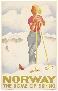Norway, the home of skiing - 1936 -