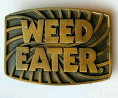 VINTAGE SOLID BRASS STINEBURG STUDIOS HIPPY WEED EATER BELT BUCKLE in Clothing, Shoes & Accessories   eBay