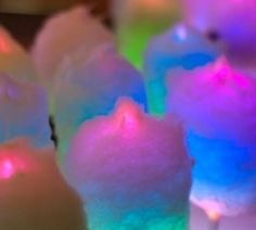cotton candy on glow sticks