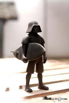 Vader is a surfer boy...