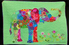 third floor quilts: the elephant in the room... a machine quilting commission