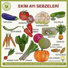 EKİM AYI SEBZELERİ  Sağlıklı beslenenler sebze ve meyveleri mevsiminde yemeye özen gösteriyor çünkü mevsim dışında yetişen sebzeler… Health Tips, Health Fitness, Stuffed Peppers, Healthy Recipes, Vegetables, Plants, Food, Instagram, Health